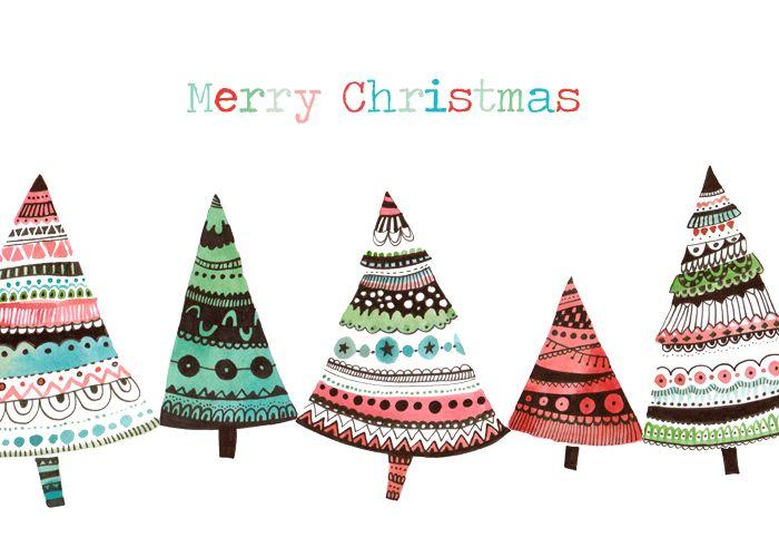 Merry-christmas-trees.jpg 700×500 pixels