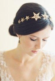 NORTHSTAR JEWELED BRIDAL FILIGREE STAR HEADBAND #ericaelizabethdesigns #wedding #bride #bridal #headpiece
