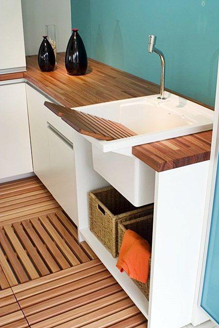 lavanderia, branco, madeira, verde