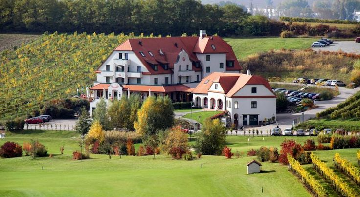 Hotel Veltlin Poysdorf Hotel Veltlin is located on a vineyard on the outskirts of Poysdorf in Lower Austria's Weinviertel region, about 60 km north of Vienna.  Surrounded by the lush greenery of a golf course, this 4-star hotel is dedicated to the subject of wine.