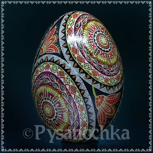 Real Ukrainian Pysanka Blue Duck Pysanky Best by Halyna Easter Egg | eBay  Duck egg done right---wow