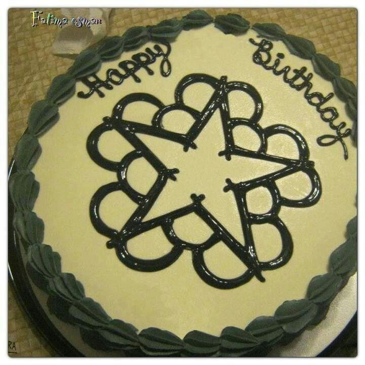 Black veil brides cake