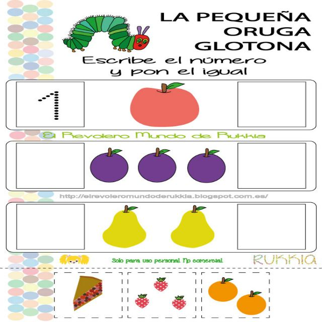 Juego oruga glotona, very hungry caterpillar game, books activities, actividades de cuento infantil, hungry caterpillar printable, imprimible oruga glotona