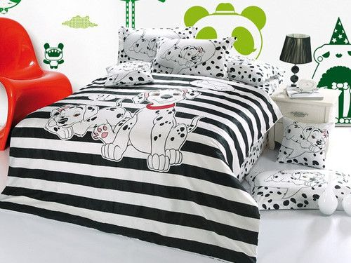 2013 New 101 Dalmatians Bedding Set 4pc Queen King Bed