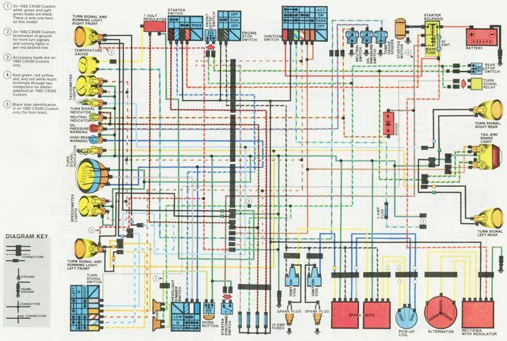honda cx500 wiring-diagram | cx500 | pinterest | honda ... 1981 honda cx500 wiring diagram #11
