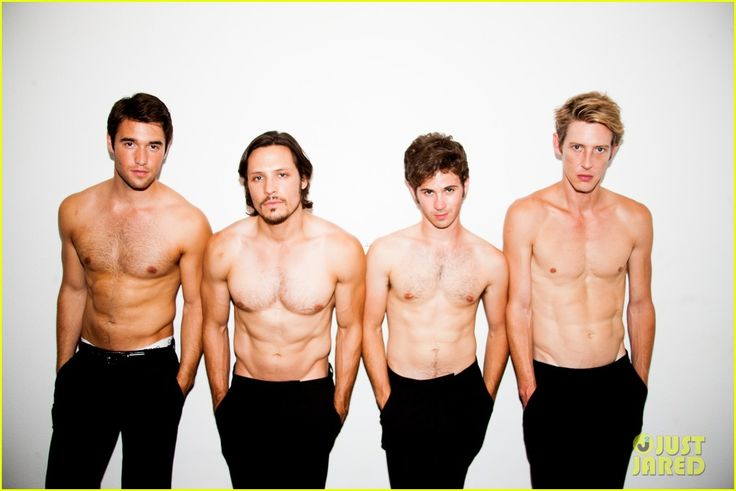 "My oh my.  From left to right: Joshua Bowman, Nick Wechsler, Connor Paolo, and Gabriel Mann from ""Revenge."""
