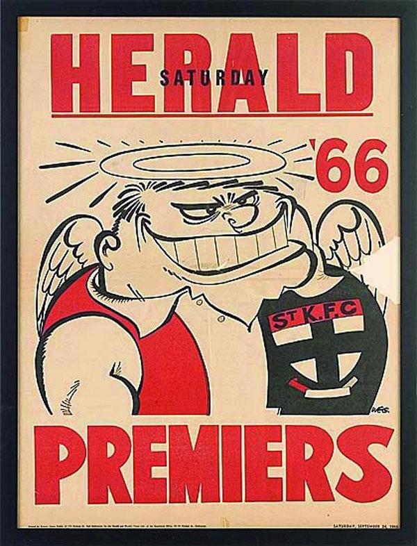 St Kilda 1966 Premiers Poster by Weg