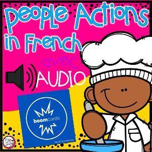 Boom Cards - Les verbes 1 - avec Audio