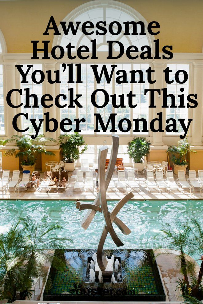 We're skipping the insanity of Black Friday, opting in favor of Cyber Monday. What better way to chase off post-holiday Monday blues than booking a trip? Hotels are eager to get in on the action this year, offering discounts up to 50 percent off room rates, resort credits, extra perks and privileges, and freebies. We've done all the dirty work, so you don't have to waste time searching for the best Cyber Monday deals -- you can just look, book, and gobble up the savings.