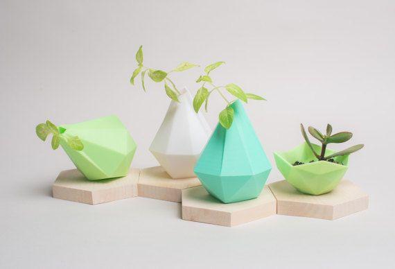 Mint Vase is Back 3D Printed Vase Planter by PrintAworldService