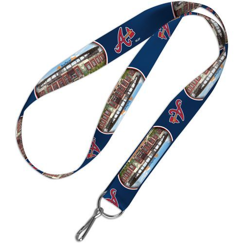 WinCraft Atlanta Braves SunTrust Park 1 in Lanyard (Navy, Size ) - Pro Licensed Product, Pro Licensed Novelty at Academy Sports