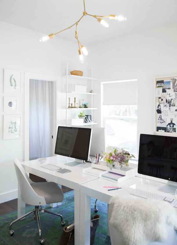 Parsons Desk with Drawers - White | West Elm. They look clean and simple but the front actually has drawers