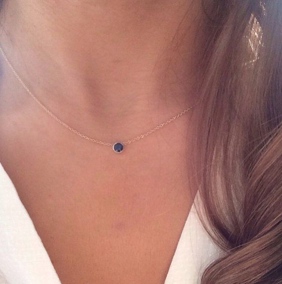 4weeksProductionTime 14k solid gold genuine sapphire necklace