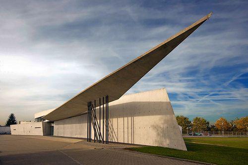 Vitra Fire Station designed by Zaha Hadid. Weil am Rhein.