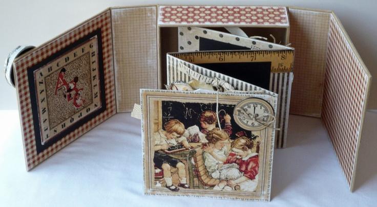 Ritagli di vita: Graphic45 Box Arte e Tutorial Mini Album