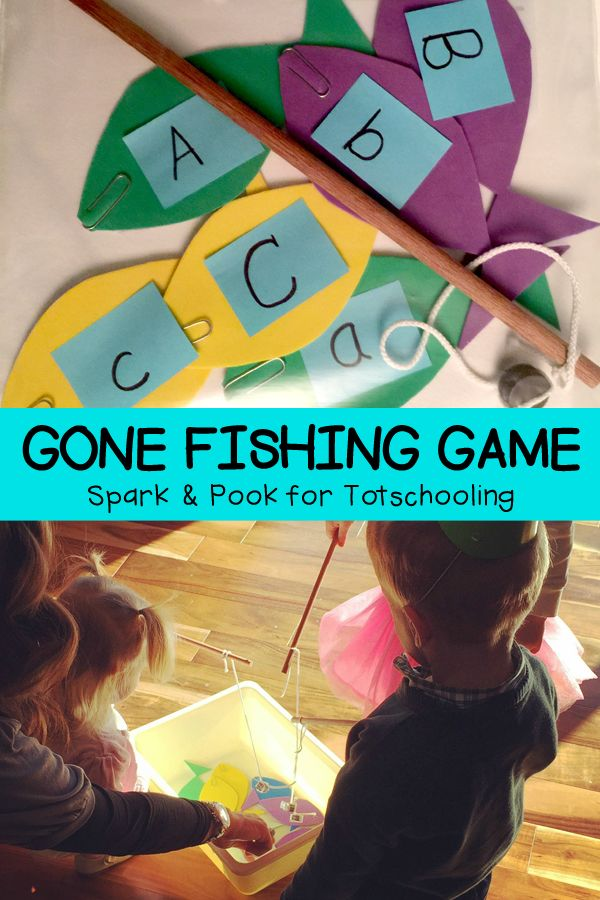 Gone Fishing Game for Preschoolers | Totschooling - Toddler and Preschool Educational Printable Activities