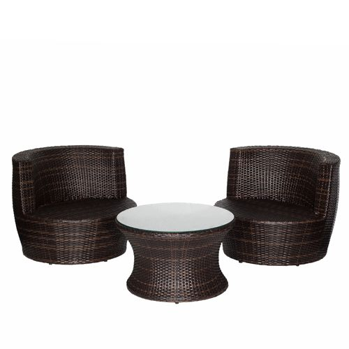 Deluxe Products - Congo Stackable PE Wicker Setting - Coffee Bean