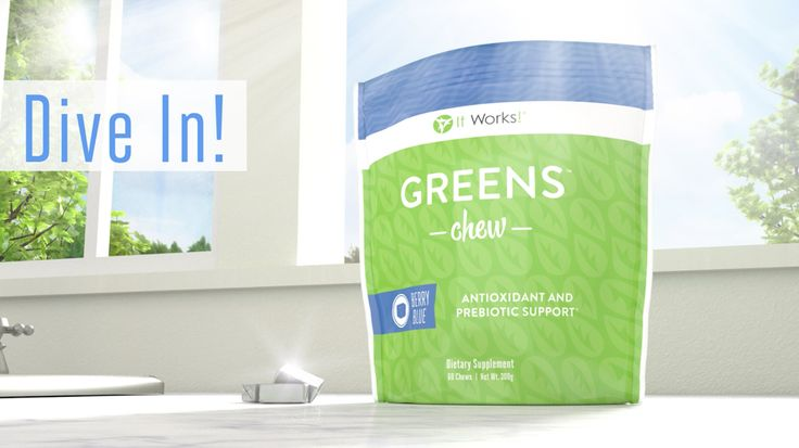 Are you ready to dive in to better nutrition? Just two Greens Chews a day gives you the nutritional boost of prebiotic fiber, support for healthy blood pressure levels, and free-radical fighting antioxidants! Start snacking!