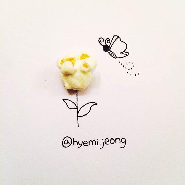 Transformando objetos do cotidiano em ilustrações por Hyemi Jeong
