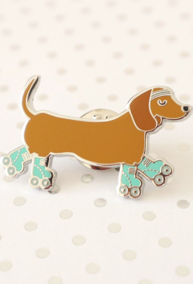 Sausage Dog Pin Dachshund Pin Dog Enamel Pin Hard Enamel Pin