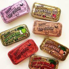 Village Lip Balm Tins. I miss these!