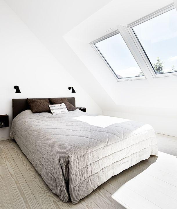 Minimalistisk og hyggeligt soveværelse