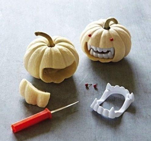 vampire pumpkins! This article has a million cool pumpkin ideas!