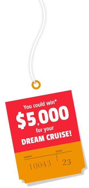 Win A $5000 Dream Cruise (Exp August 31)