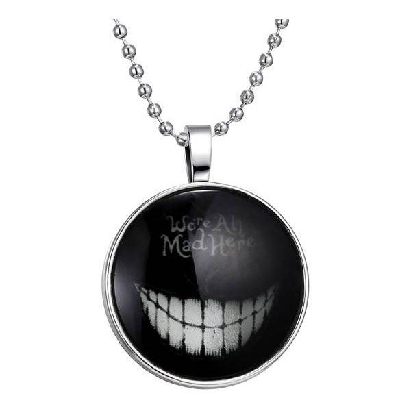 Stainless Steel Chain Halloween Luminous Necklace ($4.26) ❤ liked on Polyvore featuring jewelry, necklaces, accessories, black, neck, white, stainless steel chain necklace, vintage chain necklace, white pendant necklace and vintage necklace