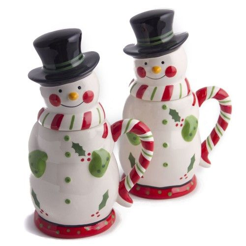 temp-tations® by Tara: temp-tations® Set of Two 24-oz. Snowman Mugs with Gift Boxes