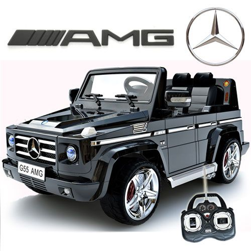 mercedes benz rc electric ride on g55 amg g wagon for kids wleather