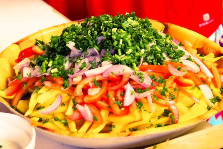 salade de mangue au basilic