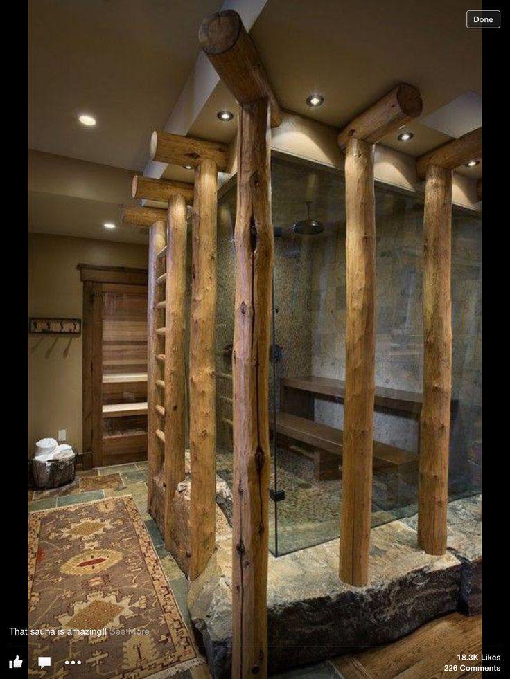 Rustic Sauna! Love It!