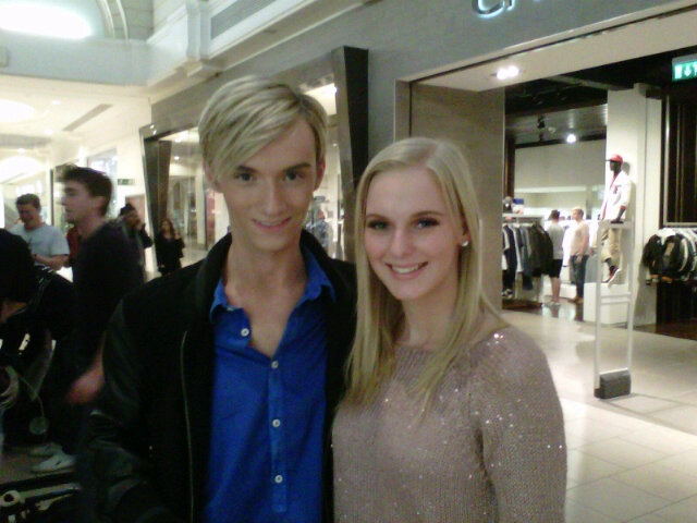 Me and Harry Derbidge at Lakeside. He was so lovely!