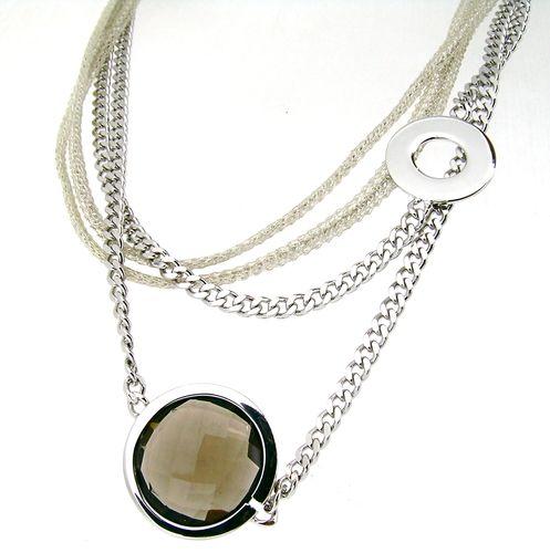 Italienischer Schmuck aus feinsten Silberfäden von Calgaro: Collier 40cm AF200GC/SB