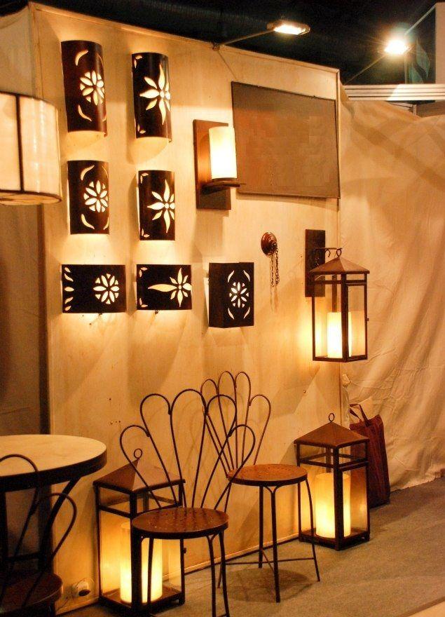 Fanal aplique pared chapa calada estilo antiguo 40x18x8 5 cm - Apliques de pared originales ...