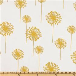 Premier Prints Dandelion Slub Yellow/White for couch pillows!!!First Prints, Kitchens Curtains, Wide Premier, Prints Dandelions, Yards Art, Yard Art Crafts, Slub Yellow Whit, Dandelions Slub, Gray Yellow