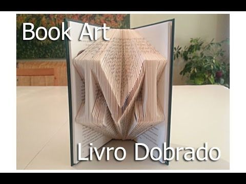 How to Fold Book pages– Recycled Book Art Ideas -