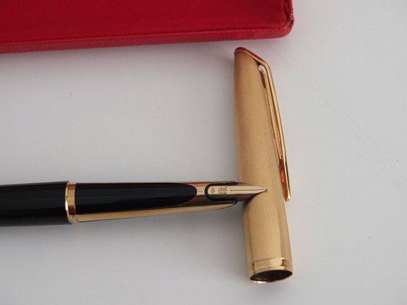 Waterman stylo plume 18 K/750 ancien stylo plume plaqué or