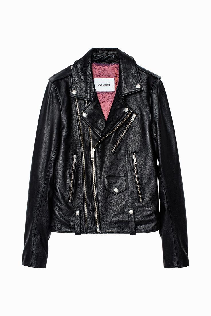 Zadig & Voltaire biker jacket, 100% leather.
