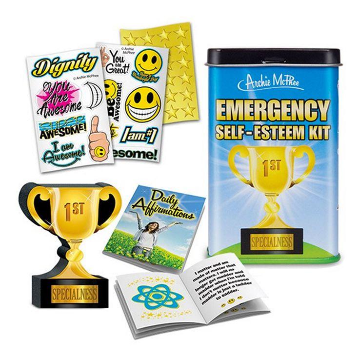 Emergency SelfEsteem Kit Joke gifts, Gag gifts