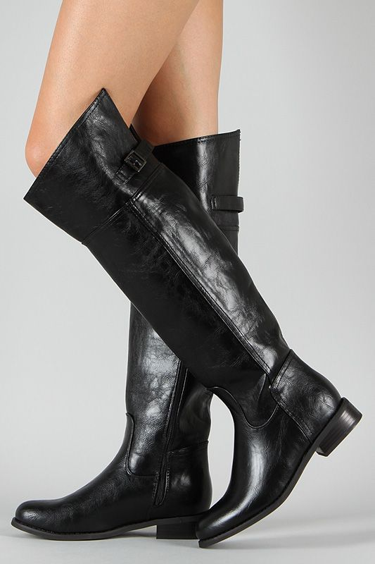 Women's Fashion Zipper Pointed Toe Sexy Retro Vintage Mid Heel Riding Boots