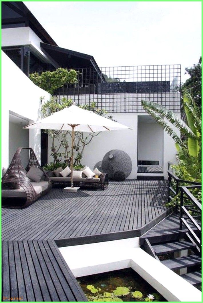Decor Amenagement Terrasse Exterieur Avec Un Sol En