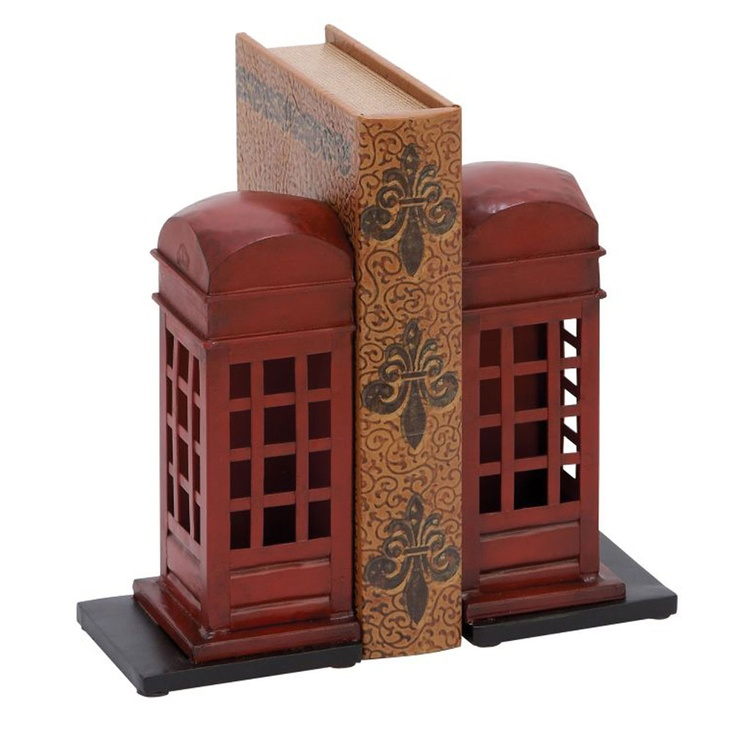 I love these Telephone Box Bookends!: Decor, Libraries, Metals Bookends, Phonebooth Bookends, Bookends Sets, Telephone Booths, Products, Phones Booths, Booths Bookends