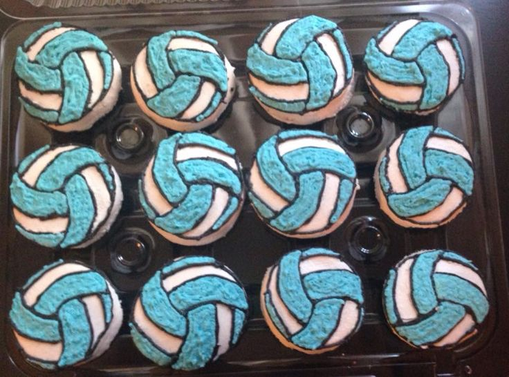 Volleyball cupcake