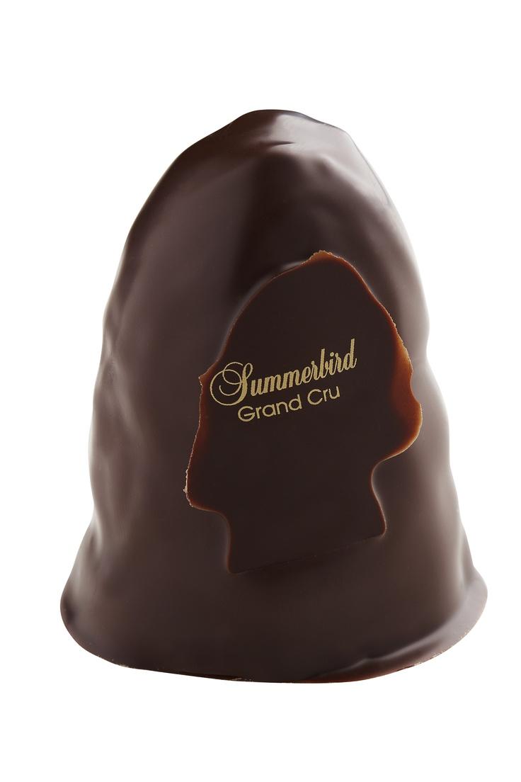 "Danish chocolate ""Grand Cru Flødebolle"" by the Danish chocolaterie Summerbird #Denmark"