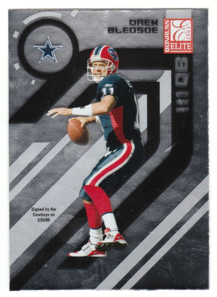 ee3e42aa92f ... Jersey Home 11 NFL New England Patriots Nike Drew Bledsoe 11 - 2005  Donruss Elite Football ...
