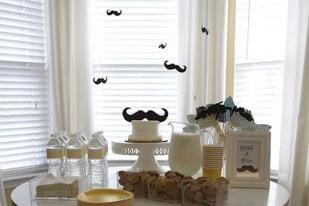 Mustache Theme Party Ideas. That cake.