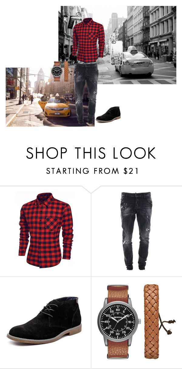 Untitled #12 by beata-apanasewicz on Polyvore featuring Dsquared2, Hush Puppies, Arizona, Casetify, men's fashion and menswear