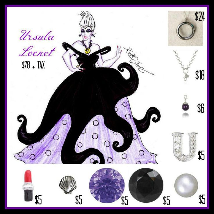 Ursula! Disney Villians!  LOVE it! WANT it!!!  WANT IT FOR FREE?? Ask me how!   Need Extra Money?  Love Origami Owl ?